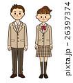 中学生 高校生 男女のイラスト 26397374