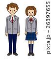 中学生 高校生 男女のイラスト 26397655