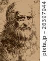 レオナルド・ダ・ヴィンチ自画像イラスト 26397944