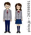 中学生 高校生 男女のイラスト 26398091