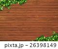 背景素材 (木目とツタ) 26398149