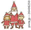 サンタと子ども 26406250
