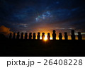 モアイ モアイ像 世界遺産の写真 26408228