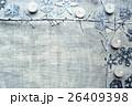 切り絵 フレーム キャンドルの写真 26409398