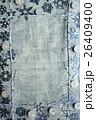 切り絵 フレーム キャンドルの写真 26409400