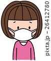 風邪 インフルエンザ マスクのイラスト 26412780