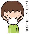 風邪 インフルエンザ マスクのイラスト 26412781