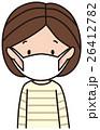 風邪 インフルエンザ マスクのイラスト 26412782
