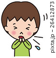 風邪 インフルエンザ 子供のイラスト 26412873