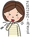 風邪 インフルエンザ 人物のイラスト 26412874