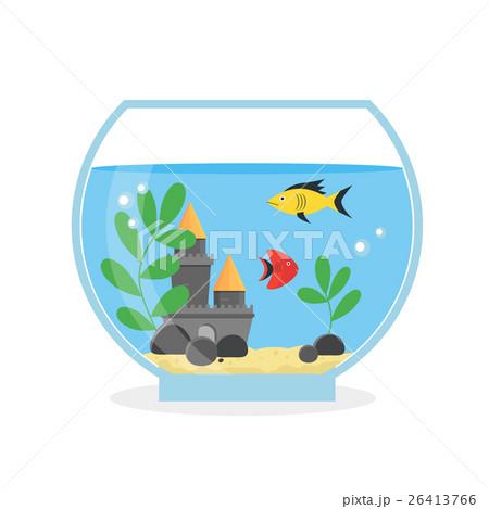 Glass Aquarium for Interior Home. Vectorのイラスト素材 [26413766] - PIXTA