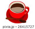 コーヒーカップ赤 26415727