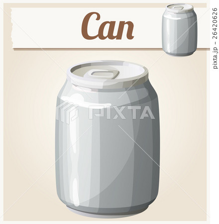 Empty can without label. Detailed vector iconのイラスト素材 [26420626] - PIXTA