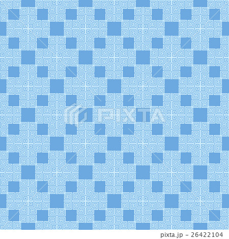 Blue Seamless Geometric Greek Ornamentのイラスト素材 [26422104] - PIXTA