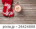 マシュマロ ホットチョコ ホットチョコレートの写真 26424888