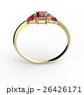Wedding ring wiith diamond. 3D illustration 26426171