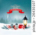 Christmas background with a lantern 26430107