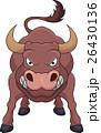 動物 雄牛 バッファローのイラスト 26430136