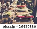 Christmas Family Dinner Table Concept 26430339