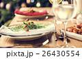 Christmas Family Dinner Table Concept 26430554