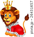 Cartoon lion in king outfit 26431657