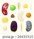 Set grains of different plants vector set 26435315