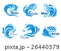 波 ウォーター 水のイラスト 26440379