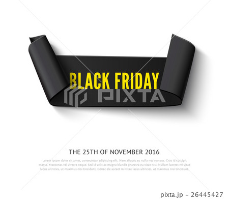 Black Friday curved paper bannerのイラスト素材 [26445427] - PIXTA