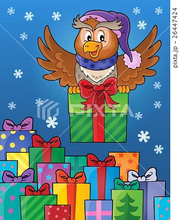 Owl with gift theme image 8のイラスト素材 [26447424] - PIXTA