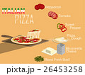 italian pizza on pizza paddle and its ingredient 26453258