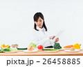 白衣の女性(野菜) 26458885