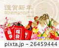 酉 福袋 富士山のイラスト 26459444