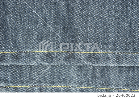 denim jeans texture pattern and yellow sewingの写真素材 [26460022] - PIXTA