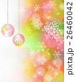 クリスマスツリー 雪の結晶 クリスマスボール 26460042