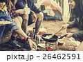キャンプ 料理 食事をするの写真 26462591