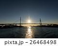 Silhouette of Osaka Tempozan Oohashi Bridge, Japan 26468498