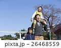 遊園地 家族 肩車の写真 26468559