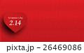 バレンタイン ハート 和紙 背景  26469086