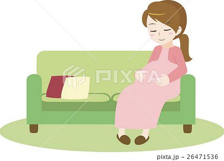 ソファでゆったりする妊婦 26471536