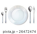 Plate And Cutlery Realistic Set Image 26472474