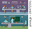 Scientists At Work Retro Cartoon Banners 26472591