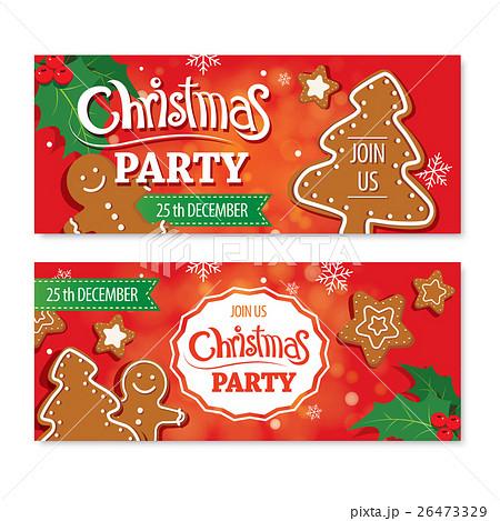 Invitation merry christmas card design template.のイラスト素材 [26473329] - PIXTA