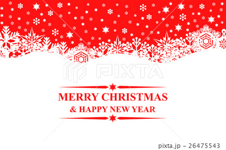 Christmas red snowflakes bannerのイラスト素材 [26475543] - PIXTA
