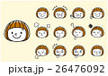 女の子:顔、表情、セット 26476092