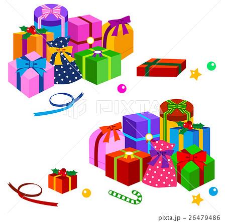 クリスマスプレゼントのイラスト素材 [26479486] , PIXTA