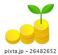 コインと新芽 26482652