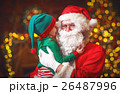 happy child elf helper and Santa Claus Christmas 26487996