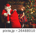 Santa Claus presents Christmas gift happy child 26488010