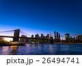 ブルックリン橋とニューヨークの夜景 26494741