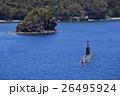 小笠原の境浦海岸に浮かぶ潜水艦 父島 26495924